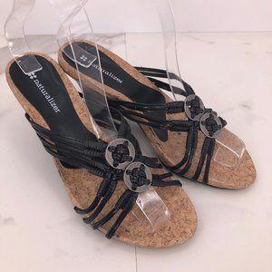 Like New Naturalizer black braided sandal
